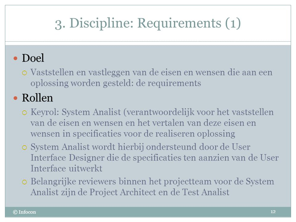 3. Discipline: Requirements (1)