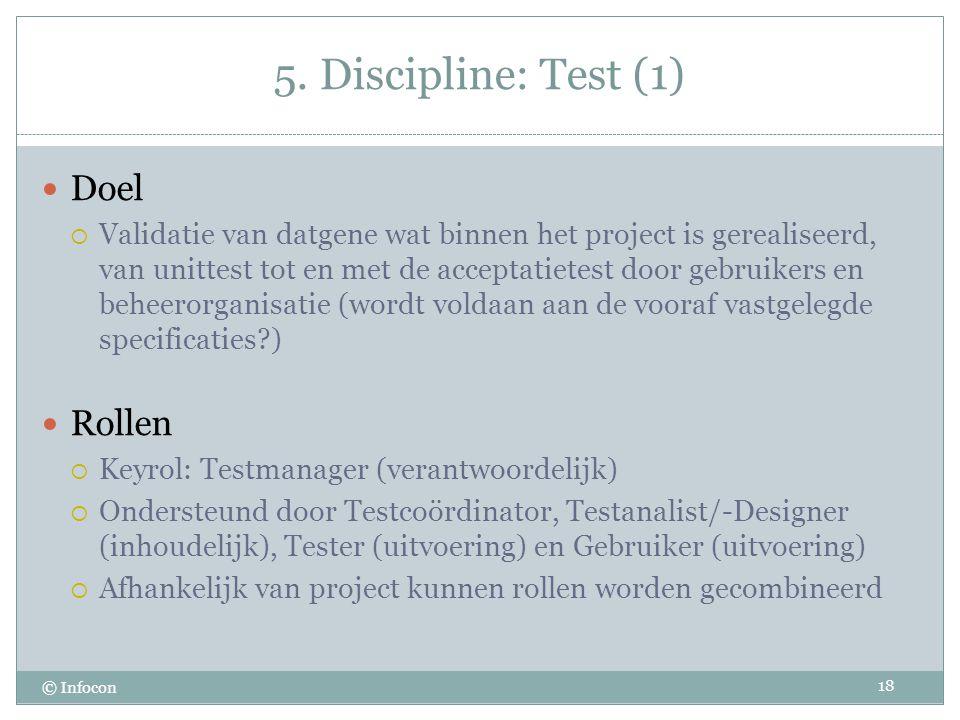 5. Discipline: Test (1) Doel Rollen