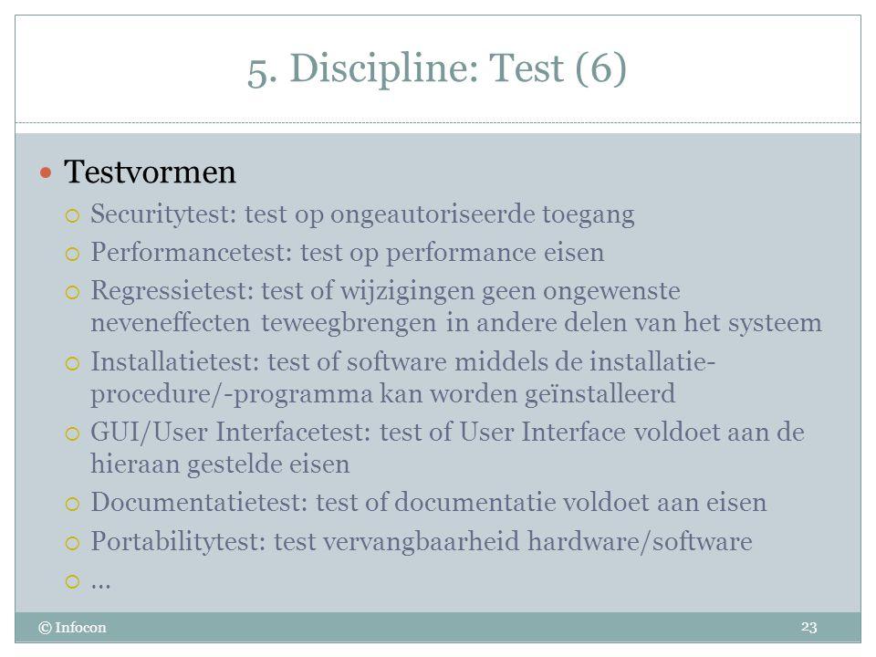 5. Discipline: Test (6) Testvormen