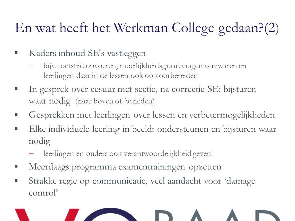 En wat heeft het Werkman College gedaan (2)