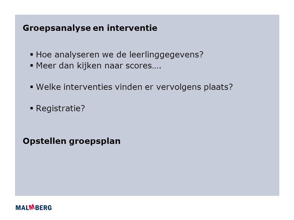 Groepsanalyse en interventie