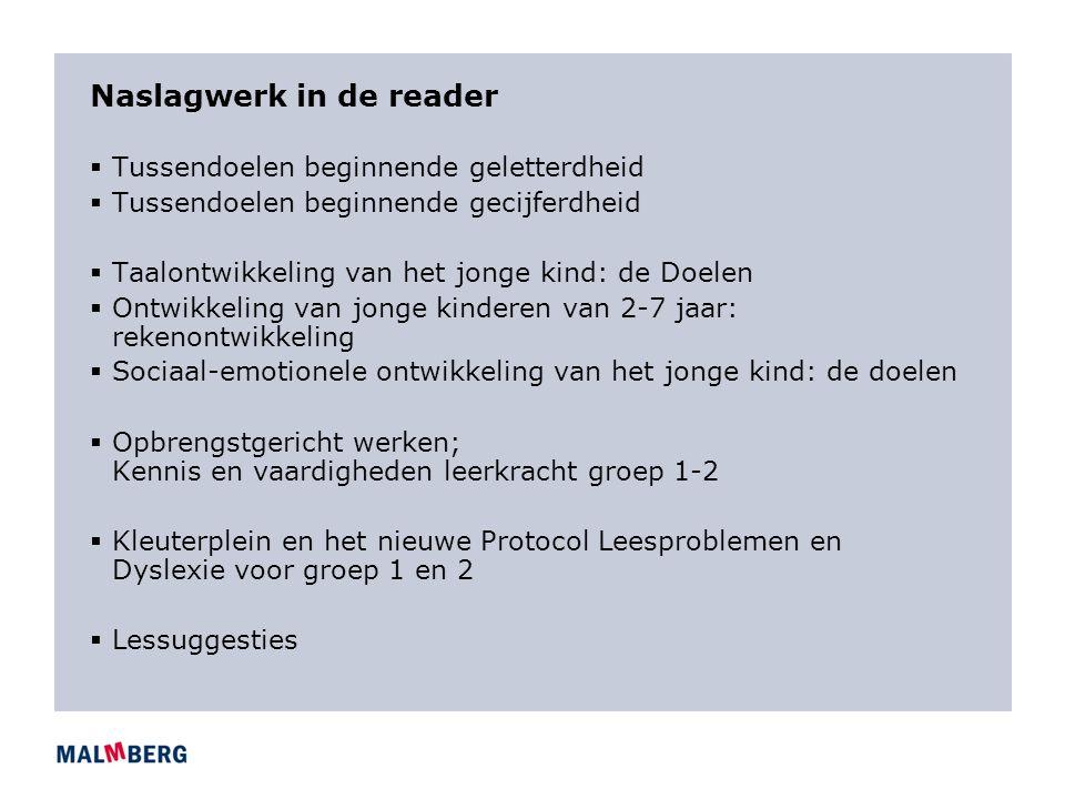 Naslagwerk in de reader