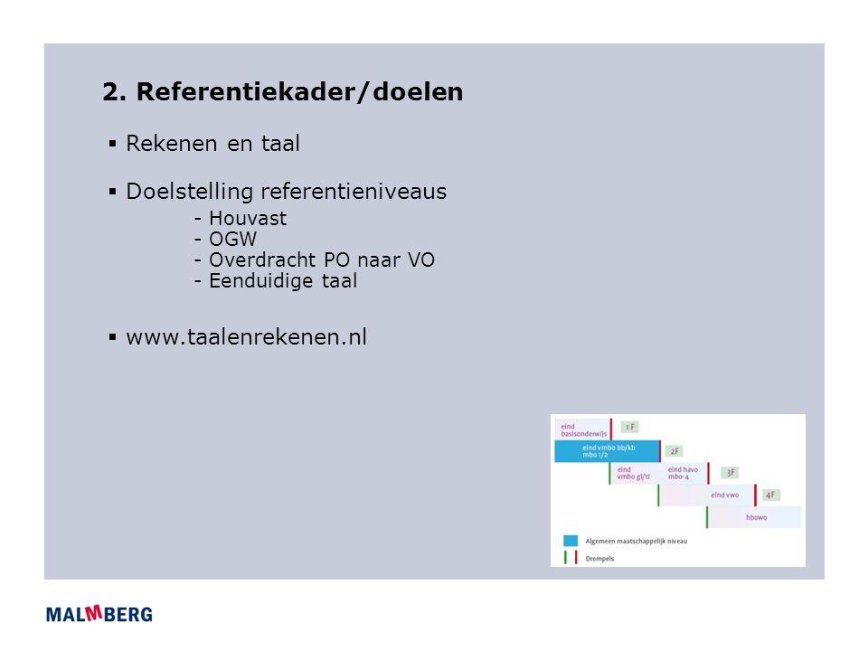2. Referentiekader/doelen