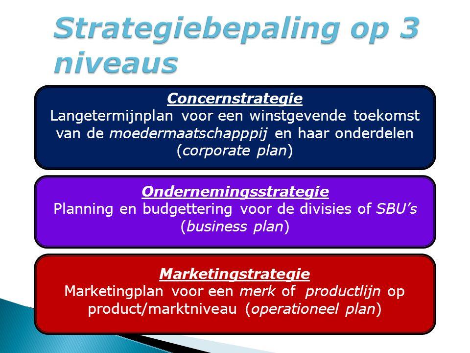 Strategiebepaling op 3 niveaus