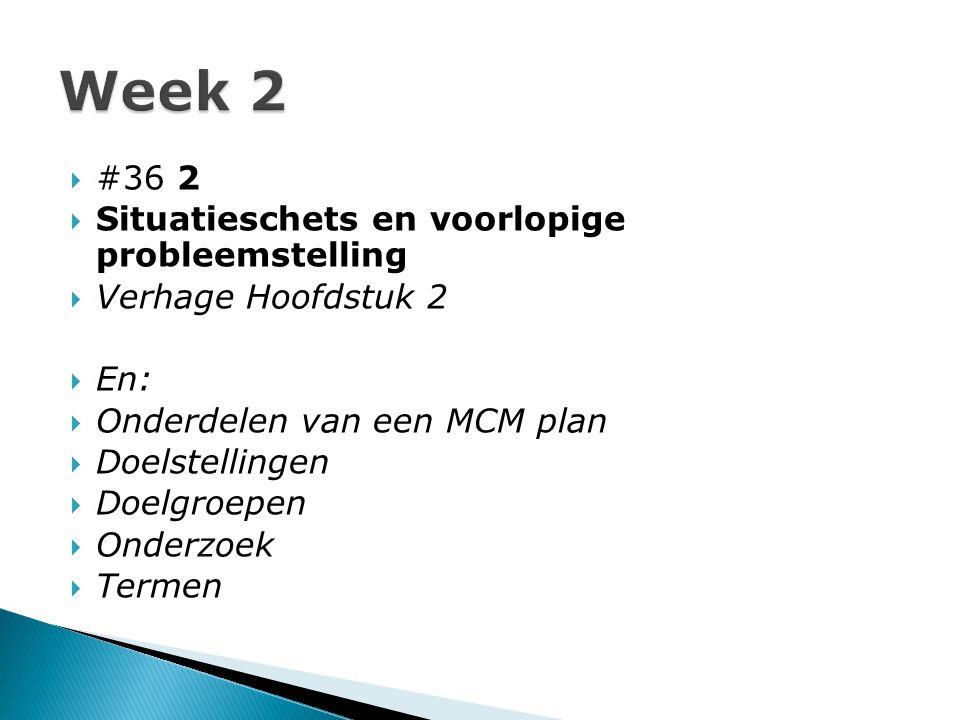 Week 2 #36 2 Situatieschets en voorlopige probleemstelling