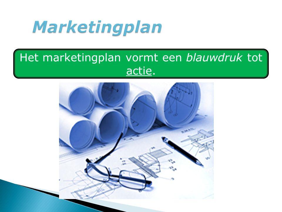 Het marketingplan vormt een blauwdruk tot actie.