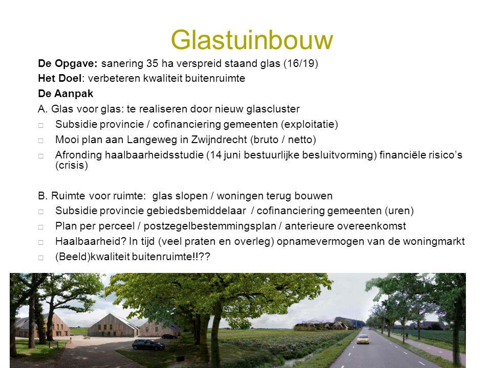 Glastuinbouw De Opgave: sanering 35 ha verspreid staand glas (16/19)