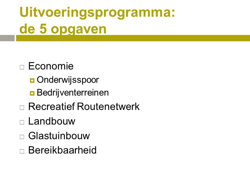 Uitvoeringsprogramma: de 5 opgaven
