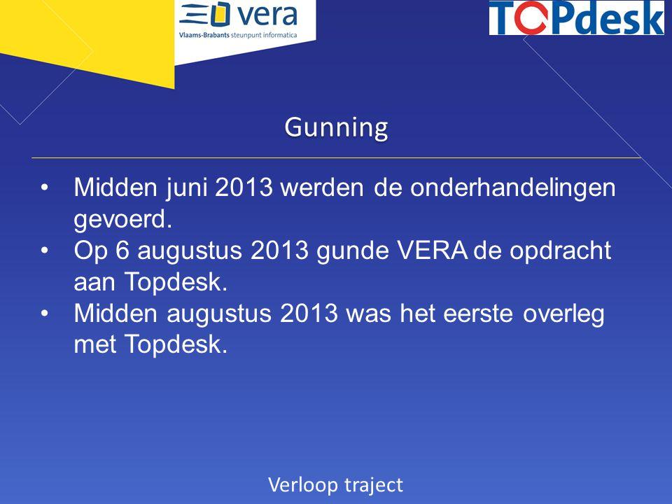 Gunning Midden juni 2013 werden de onderhandelingen gevoerd.