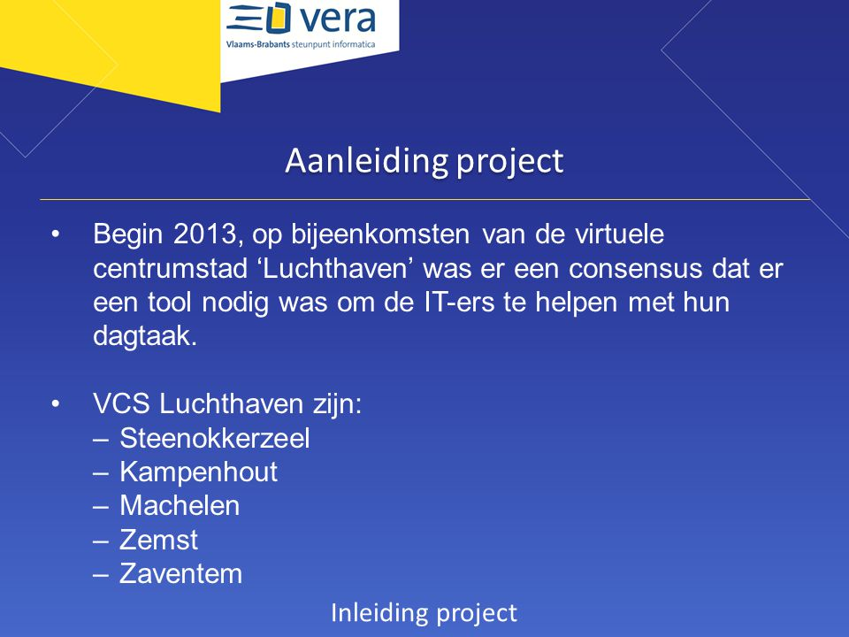 Aanleiding project
