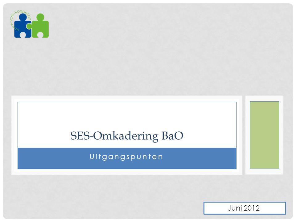 SES-Omkadering BaO Uitgangspunten Juni 2012