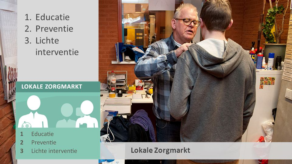 Educatie Preventie Lichte interventie Lokale Zorgmarkt