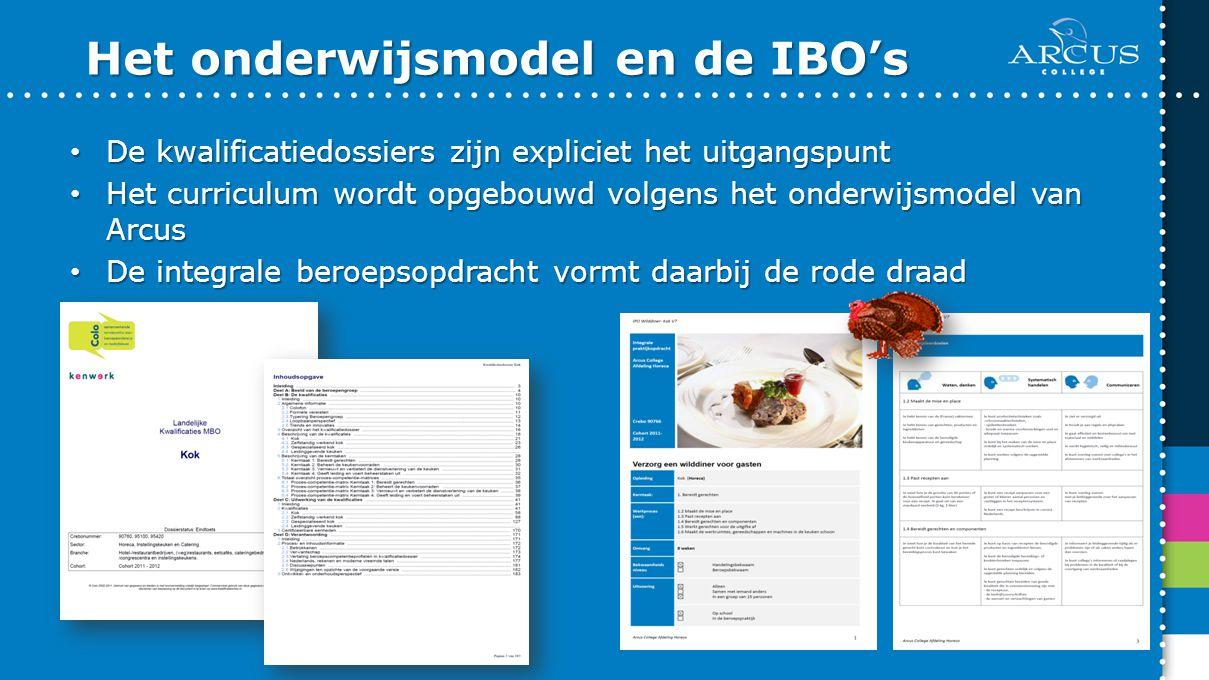 Het onderwijsmodel en de IBO's