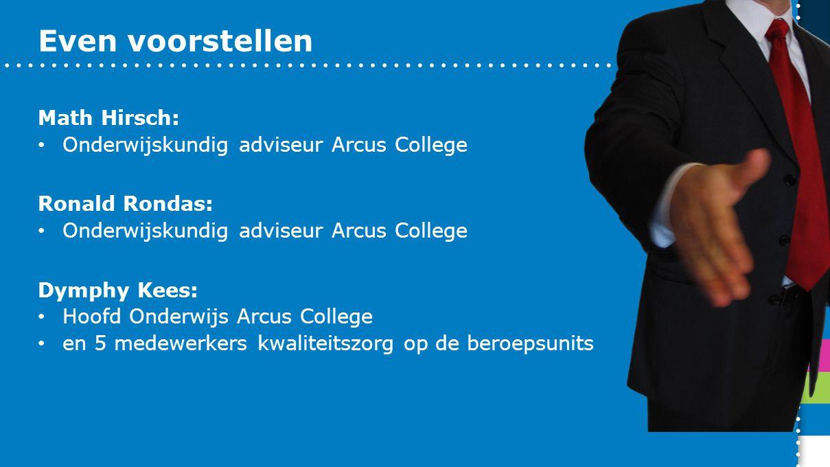 Even voorstellen Math Hirsch: Onderwijskundig adviseur Arcus College