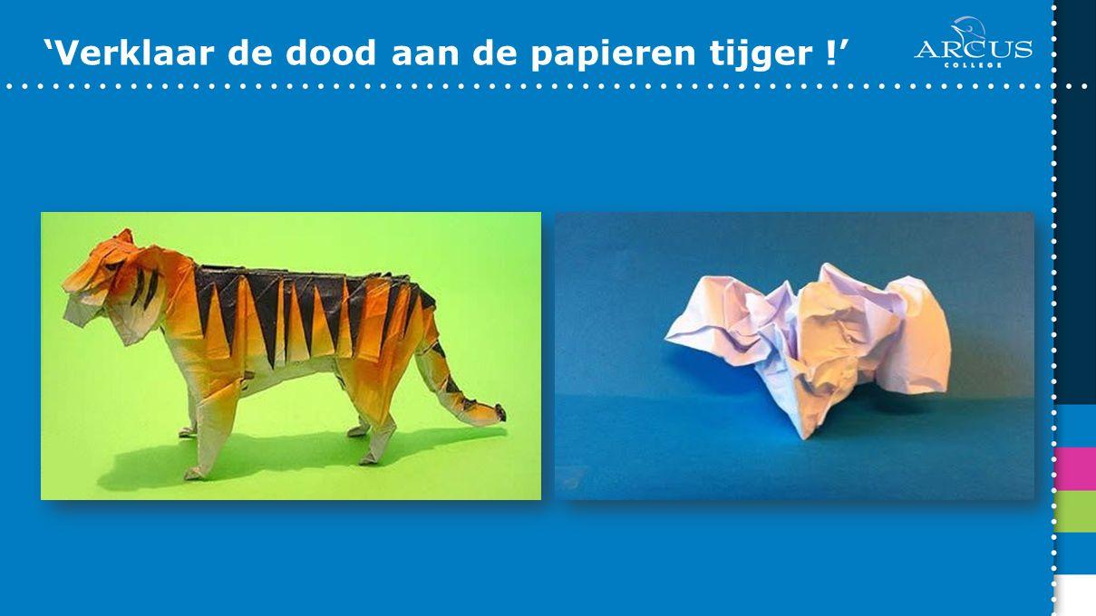 'Verklaar de dood aan de papieren tijger !'