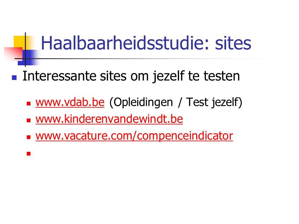 Haalbaarheidsstudie: sites