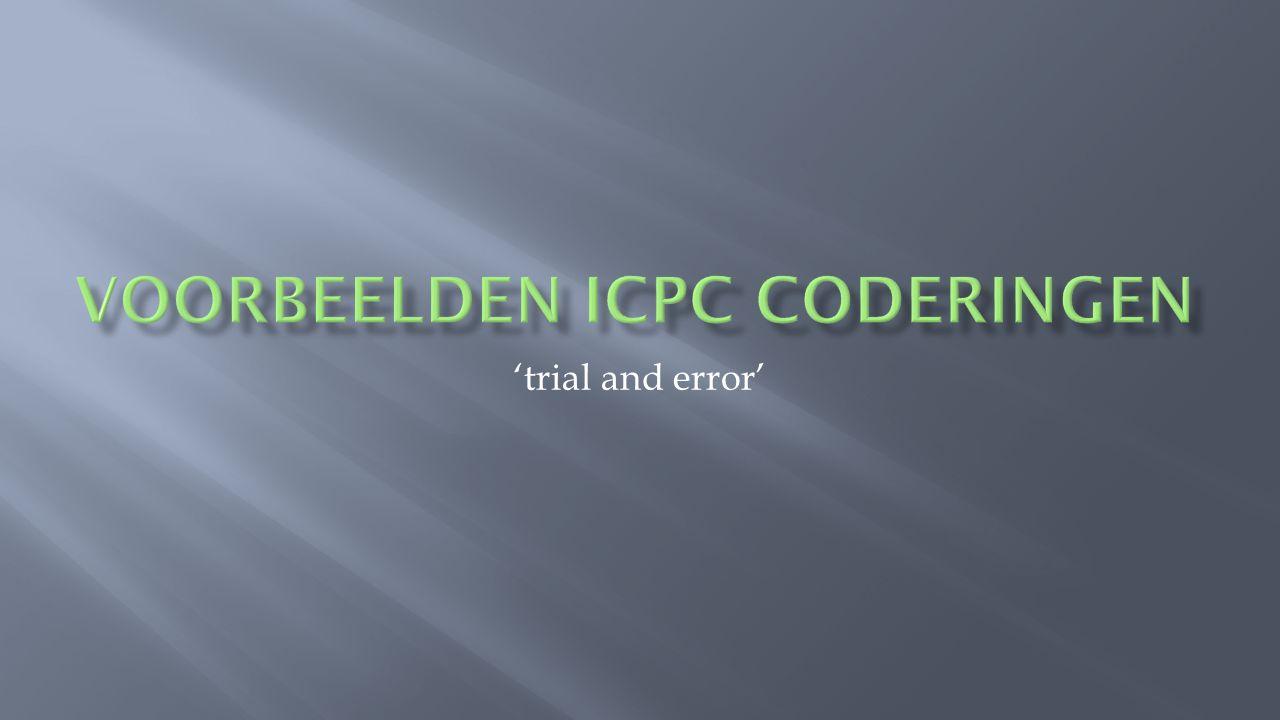 Voorbeelden ICPC coderingen