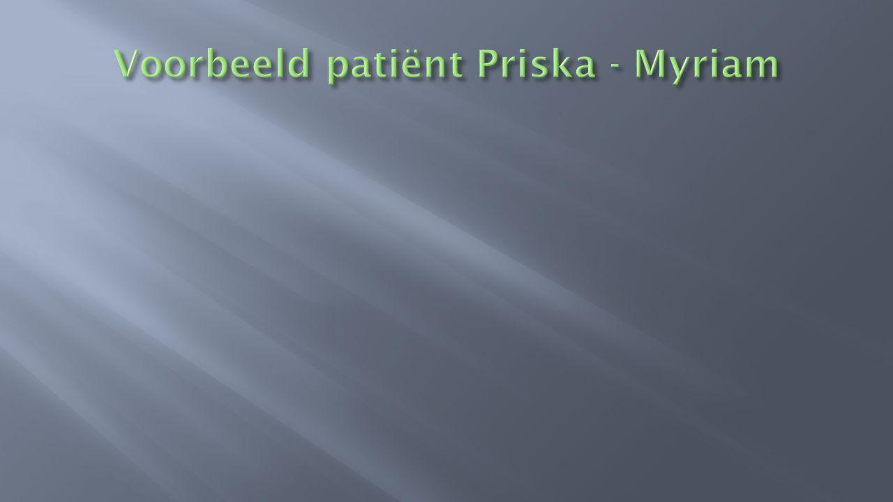 Voorbeeld patiënt Priska - Myriam