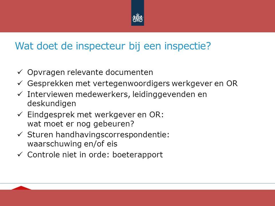 Wat doet de inspecteur bij een inspectie