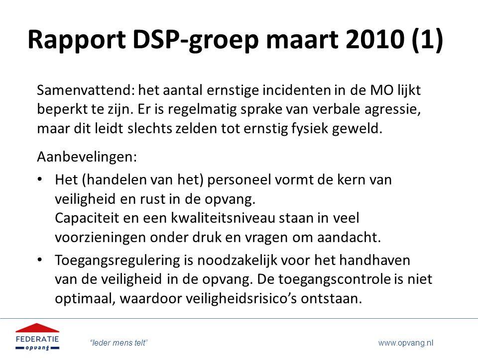 Rapport DSP-groep maart 2010 (1)