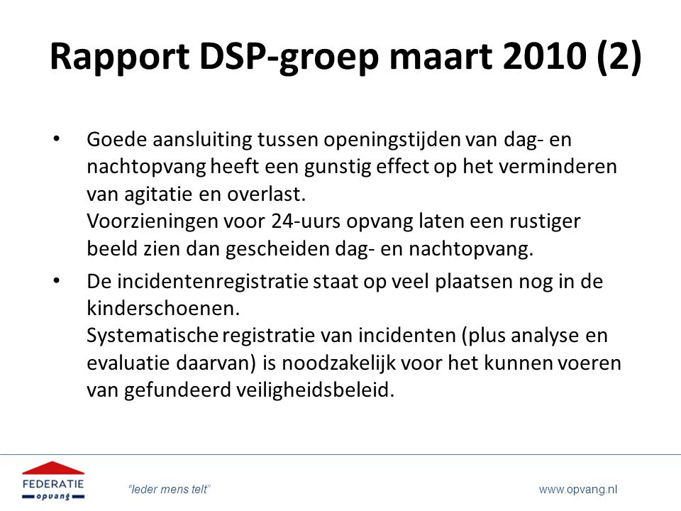 Rapport DSP-groep maart 2010 (2)