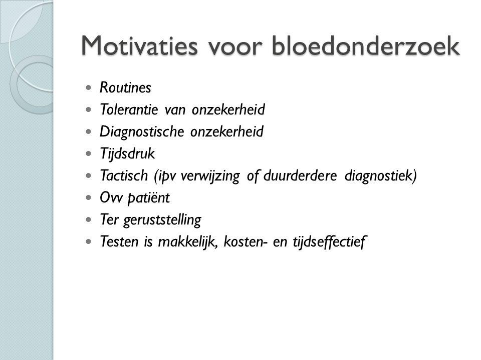 Motivaties voor bloedonderzoek