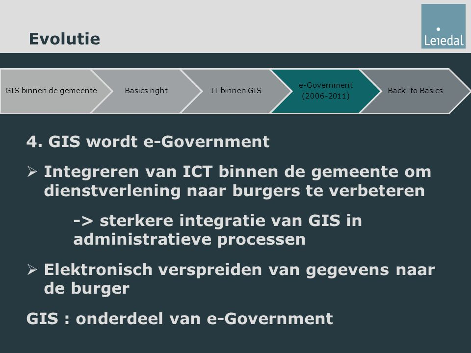 4. GIS wordt e-Government