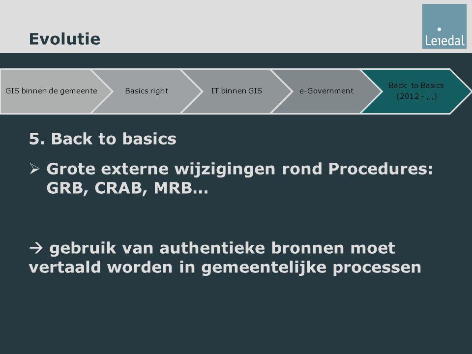 Grote externe wijzigingen rond Procedures: GRB, CRAB, MRB…