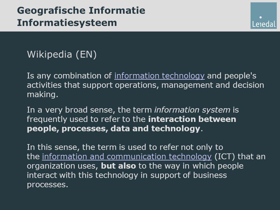 Geografische Informatie Informatiesysteem