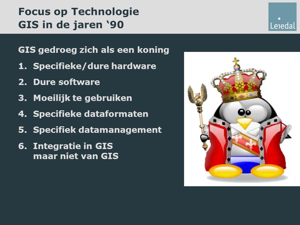 Focus op Technologie GIS in de jaren '90