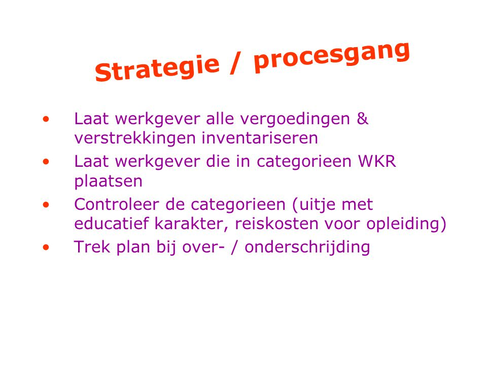 Strategie / procesgang