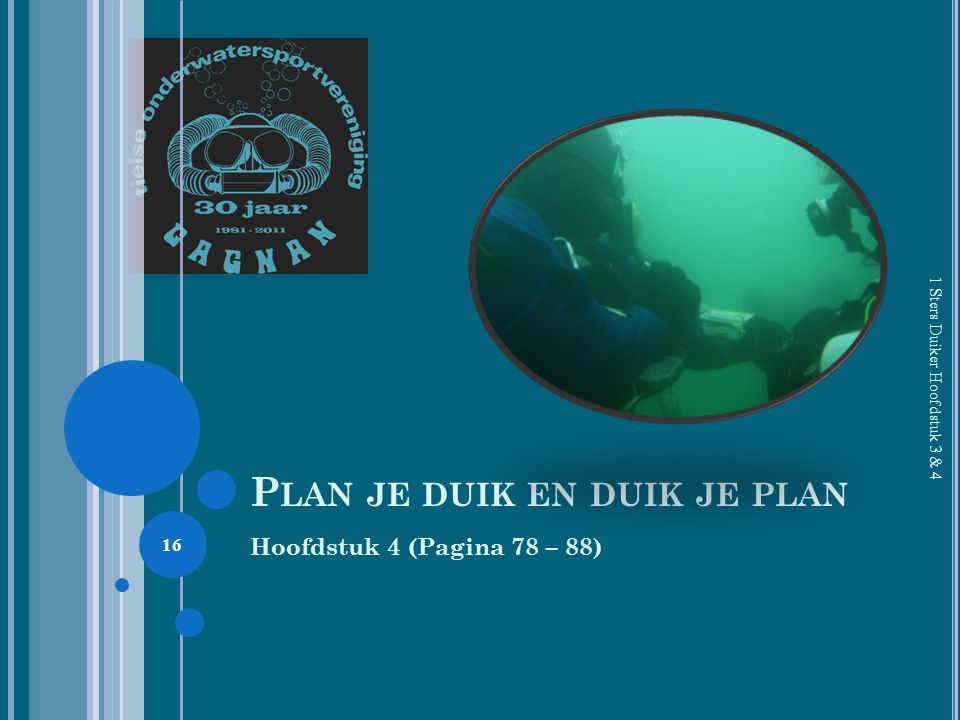 Plan je duik en duik je plan