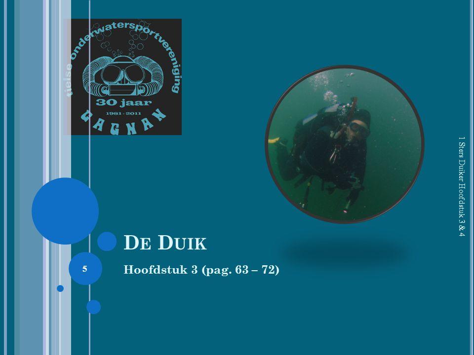 De Duik 1 Sters Duiker Hoofdstuk 3 & 4 Hoofdstuk 3 (pag. 63 – 72)