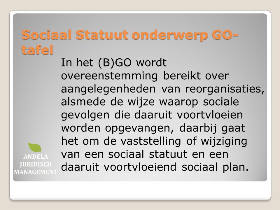 Sociaal Statuut onderwerp GO-tafel