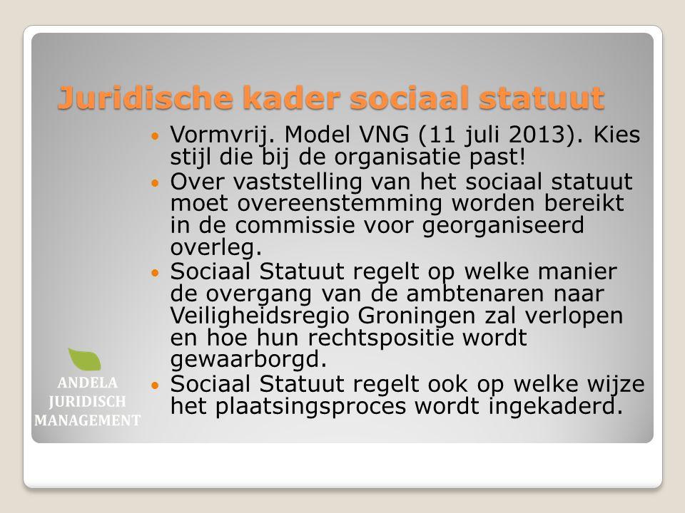 Juridische kader sociaal statuut