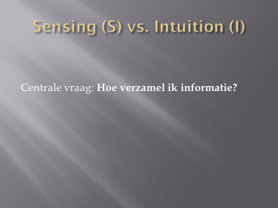 Sensing (S) vs. Intuition (I)