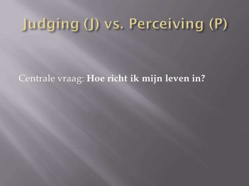 Judging (J) vs. Perceiving (P)