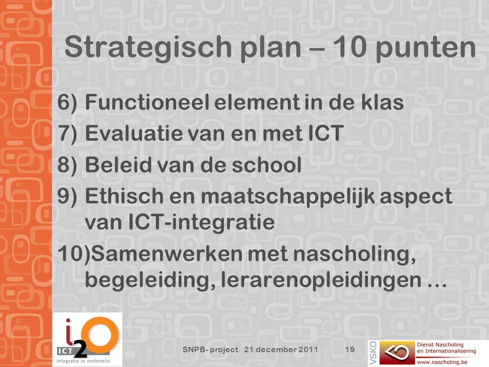 Strategisch plan – 10 punten