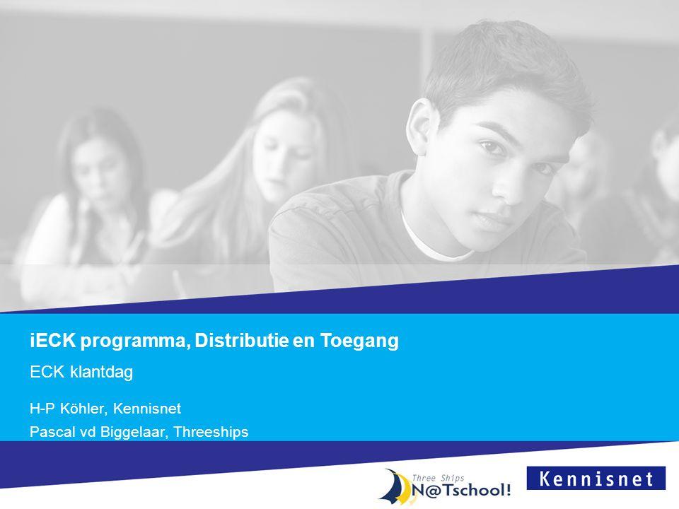 iECK programma, Distributie en Toegang