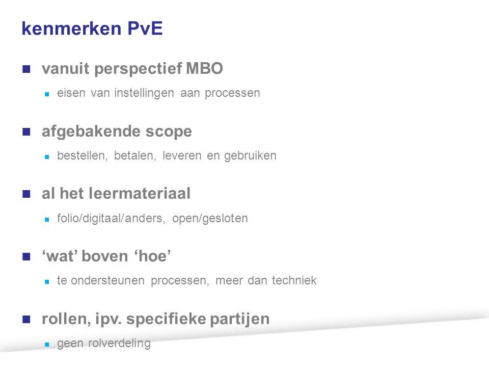 kenmerken PvE vanuit perspectief MBO afgebakende scope