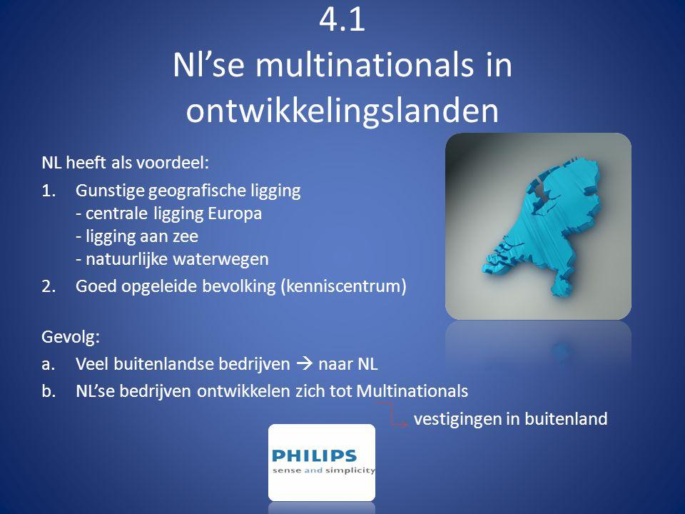 4.1 Nl'se multinationals in ontwikkelingslanden