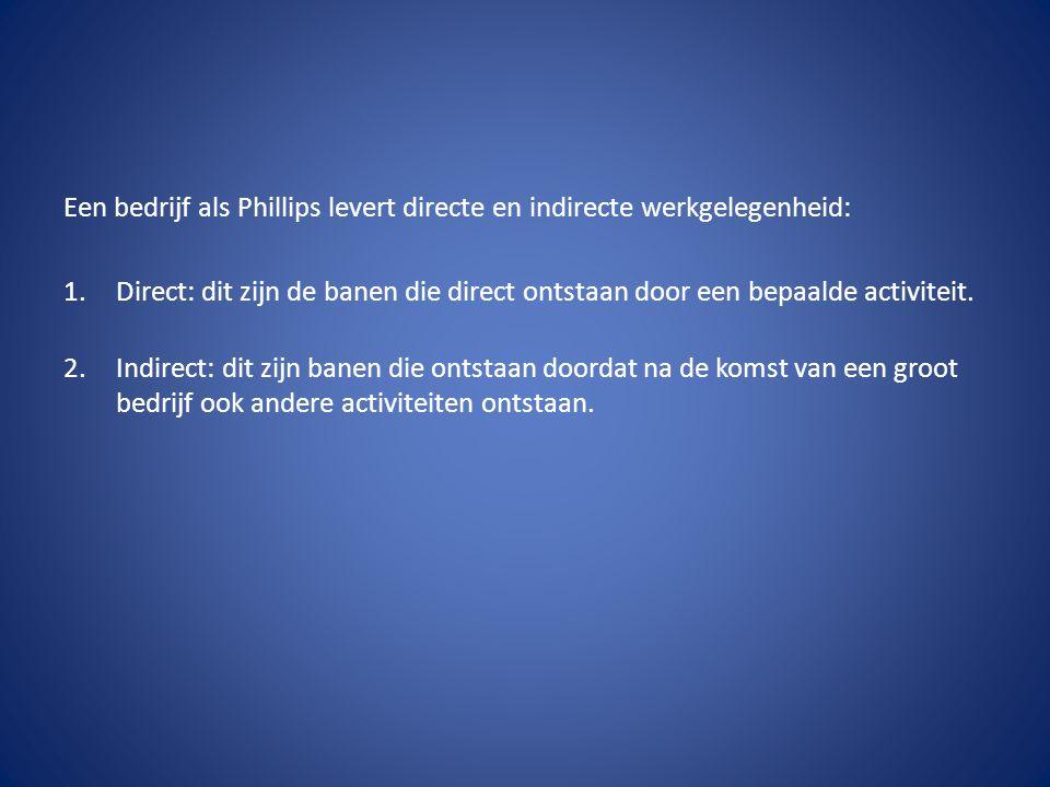 Een bedrijf als Phillips levert directe en indirecte werkgelegenheid: