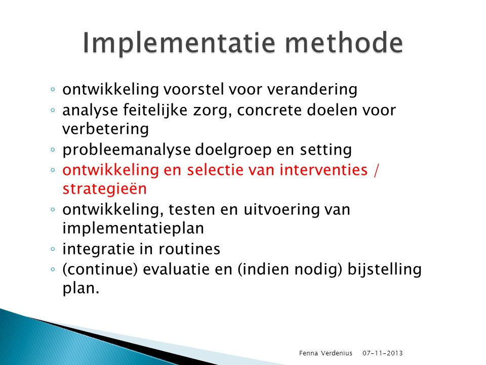Implementatie methode