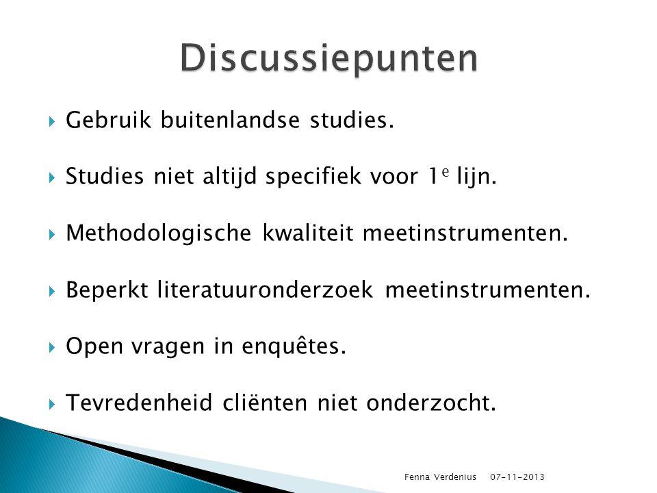 Discussiepunten Gebruik buitenlandse studies.