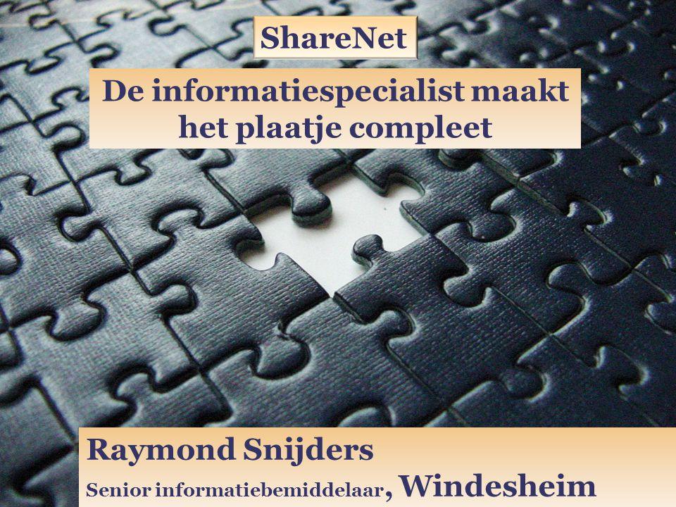 De informatiespecialist maakt