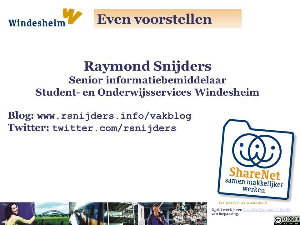 Senior informatiebemiddelaar Student- en Onderwijsservices Windesheim