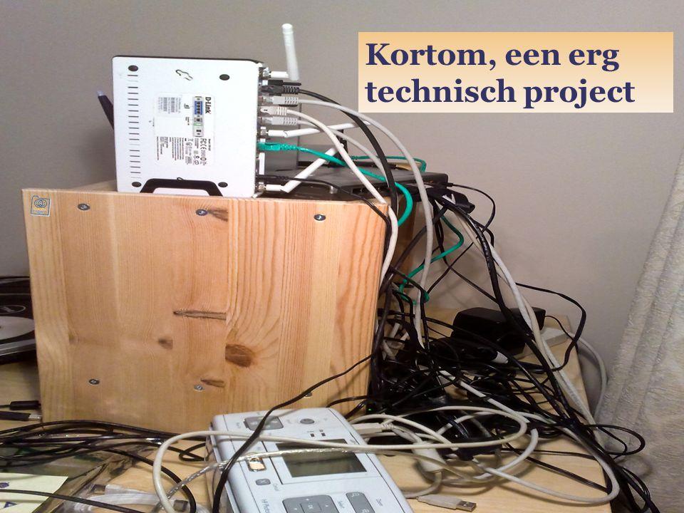 Kortom, een erg technisch project