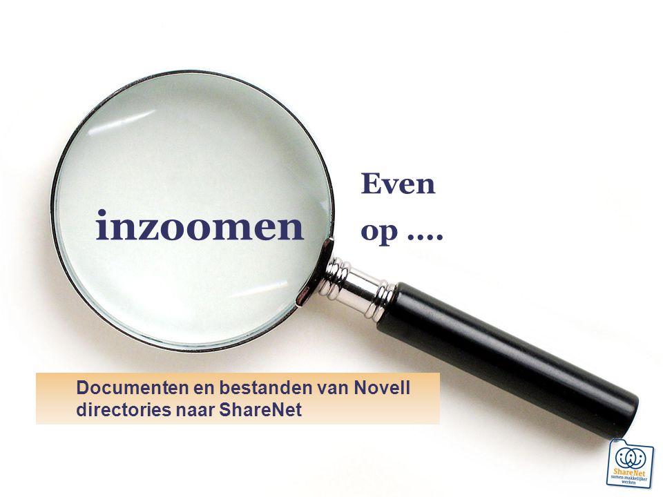 Documenten en bestanden van Novell directories naar ShareNet