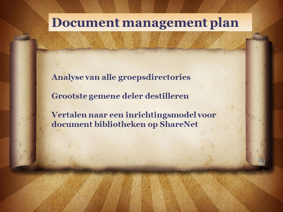 Document management plan