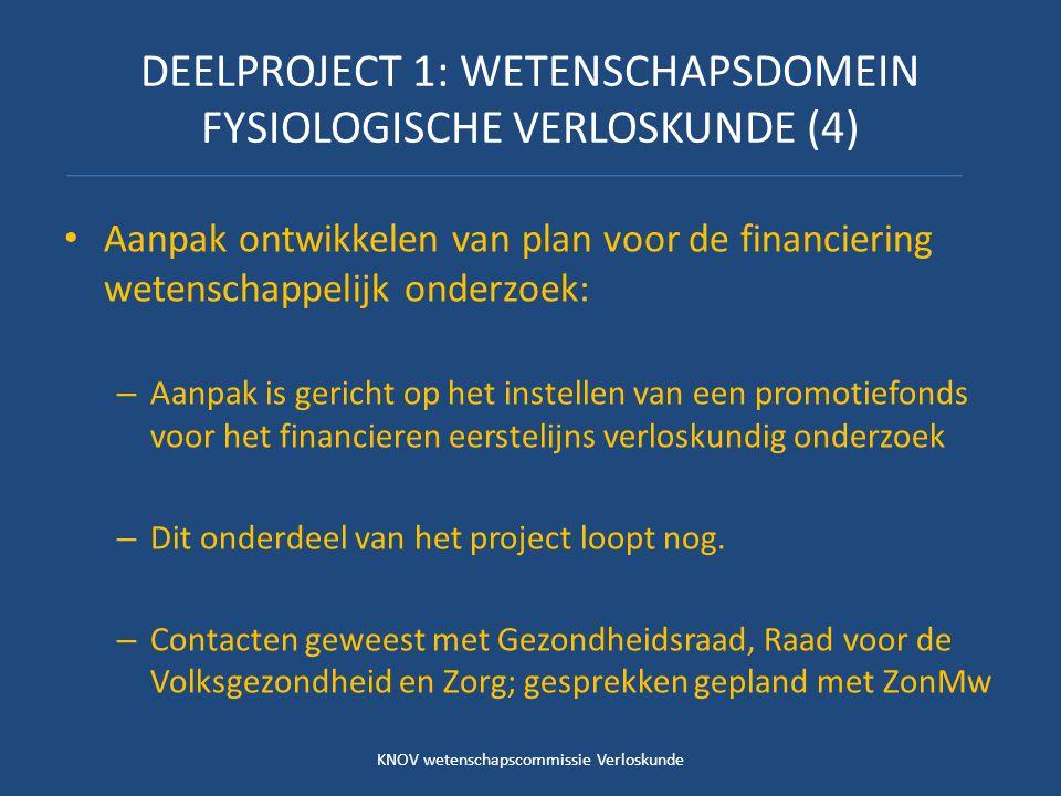 DEELPROJECT 1: WETENSCHAPSDOMEIN FYSIOLOGISCHE VERLOSKUNDE (4)